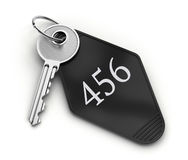 Hotel key. Hotel room key with number isolated on white background vector illustration