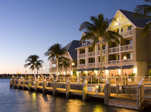 Hotel in Key West at sunset Royalty Free Stock Photo