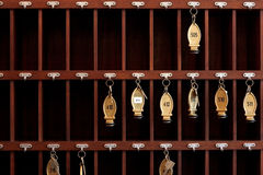 Hotel keys Stock Images