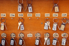 Hotel keys Stock Photo