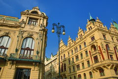 Hotel Kings Court, Historic and new buildngs, Prague, Czech Republic Stock Photos