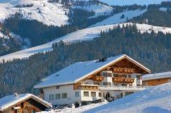 Hotel in Kirchberg Oostenrijk Royalty-vrije Stock Fotografie