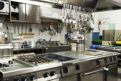 Hotel kitchen. Modern kitchen in a hotel or restaurant stock photos
