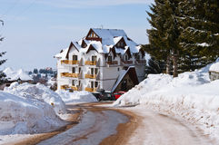 Hotel in Kopaonik Royalty Free Stock Image