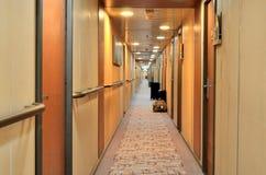 Hotel-Korridor Stockfoto
