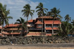 Hotel in Kovalam Beach Royalty Free Stock Photos