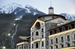 Hotel in Krasnaya Polyana, Sochi Stock Photo
