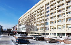 Hotel Krasnoyarsk en Krasnoyarsk Imagen de archivo