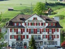 Hotel/Kurhaus Jakobsbad in Jakobsbad royalty-vrije stock foto