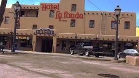 Hotel La Fonda Taos, New Mexico USA. stock video footage