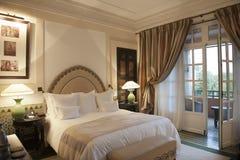 Hotel La Mamounia, Marrakesh. Bedroom of the hotel La Mamounia, Marrakesh, Morocco Royalty Free Stock Image