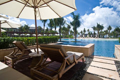 Hotel lagoon room Royalty Free Stock Image