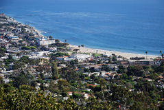 Hotel Laguna in Laguna Beach, Califonria. Scenic view of the iconic Hotel Laguna on the Main Beach of Laguna Beach, California. Photo taken from hillside above Stock Photography