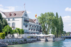 Hotel at Lake Constance Royalty Free Stock Photo