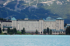 hotel in lake louise Stock Image