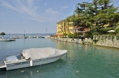 Hotel on lake Royalty Free Stock Images