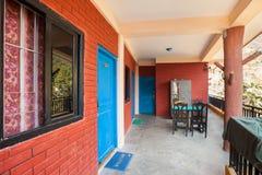 Hotel, Lakeside, Pokhara, Nepal Fotografia Stock Libera da Diritti