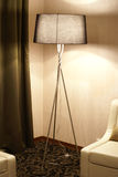 Hotel lamp and chair Stock Photo