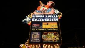Hotel Las Vegas do circo do circo video estoque