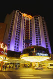 Hotel in Las vegas night stock photography