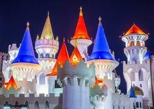 Hotel Las Vegass Excalibur lizenzfreie stockfotos