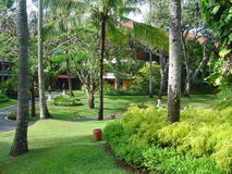 Hotel Lawn. Lawn of a hotel at Nusa Dua, Bali Island of Indonesa stock photo