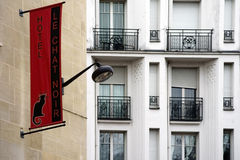 Hotel Le chat Noir in Paris Stock Photography
