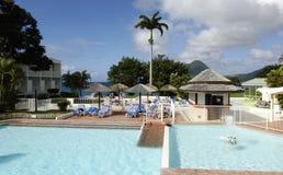 Hotel in Le Diamant in Martinique Stock Images