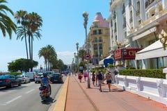 Hotel Le Negresco在Nizza,法国 免版税图库摄影