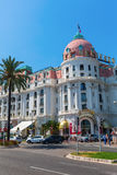 Hotel Le Negresco在Nizza,法国 免版税库存图片