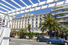 Hotel Le Royal in Nice seen from Promenade Royalty Free Stock Images