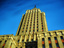 Hotel Leningradskaya. One of Stalins Seven 'Wedding Cakes' - Moscow, Russia. Also one of the highest buildings in Moscow Royalty Free Stock Photos