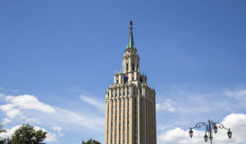 Hotel Leningradskaya Hilton on Komsomolskaya square, has been built in 1954. Moscow, Russia Stock Photo