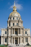 Hotel Les Invalides. Built as a hospital and a retirement home for war veterans. Tomb of Napoleon Bonaparte Royalty Free Stock Photo