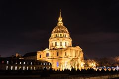 Hotel Les Invalides in Paris Royalty Free Stock Photography