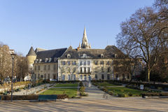The Hotel of Lesdiguières and Jardin de Ville in Grenoble Stock Photography