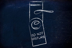 Hotel life: Do Not Disturb Royalty Free Stock Image