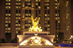 Hotel lighted sculpture Royalty Free Stock Photography