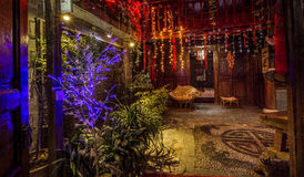 Hotel in Lijiang old town. Lijiang city, Yunnan province in China Royalty Free Stock Photography