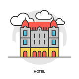 Hotel line flat icon Royalty Free Stock Photography