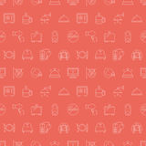 Hotel line icon pattern set Royalty Free Stock Photos
