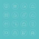Hotel line icon set Stock Image