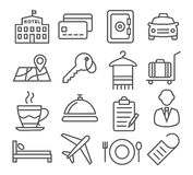 Hotel Line Icons Royalty Free Stock Images