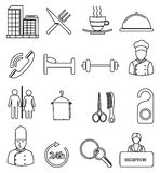 Hotel line icons set Stock Image