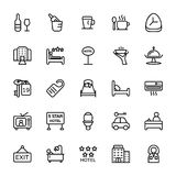 Hotel Line Vector Icons 3. Here is Hotel Line Vector Icons that you can use in your next restaurant, hospitality and hotel project stock illustration