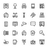 Hotel Line Vector Icons 14 Stock Image