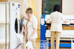 Hotel linen washing service Royalty Free Stock Photography