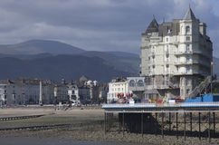 Hotel in Llandudno, Wales, UK. View from pier. Stock Photography