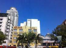 Hotel a lo largo del bulevar de Roxas foto de archivo