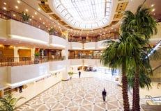 Hotel lobby. This luxury hotel bright lobby Royalty Free Stock Image
